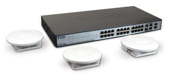 The D-Link DES-1228P smart switch