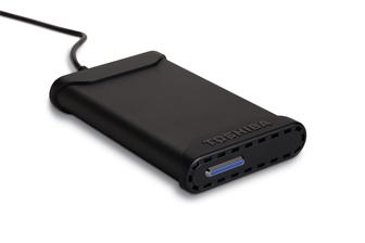 The Toshiba USB 2.0 portable external hard drive