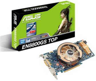 Asustek EN8800GS TOP/HTDP/384M graphics card<br>
