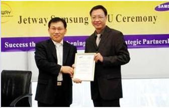 Jetway and Samsung sign MOU over GDDR procurement