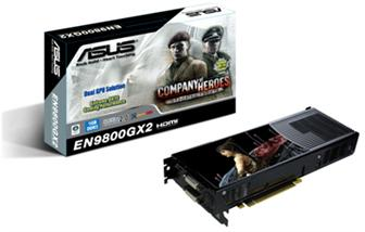 Asustek EN9800GX2/G/2DI/1G graphics card