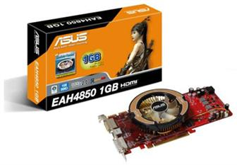 Asustek EAH4850/HTDI/1G graphics card<br>