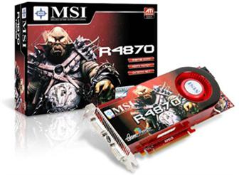 MSI R4870-T2D512 graphics card