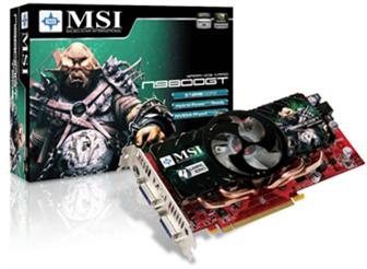 MSI N9800GT graphics card