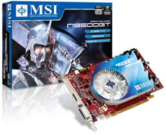 MSI N9500GT series graphics card