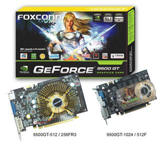 Foxconn GeForce 9500 GT graphics card