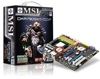 MSI DKA790GX motherboard based on AMD 790GX IGP chipsets