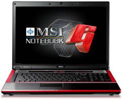 MSI GX720 notebook