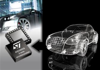 STMicroelectronics intros its first automotive-qualified three-axis MEMS accelerometer.