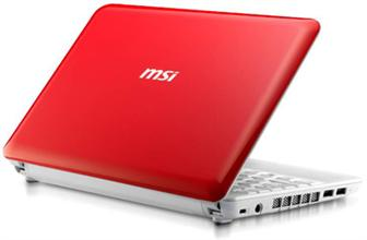 MSI launches Cherry Red MSI Wind Notebook U100