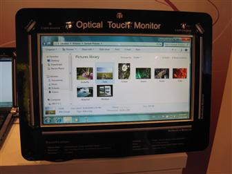 Quanta's optical touch screen technology
