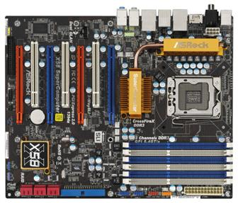 ASRock X58 SuperComputer motherboard