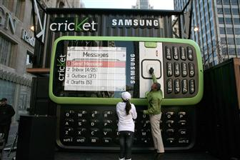 Cricket launches Samsung Messenger in 11 by 15 feet