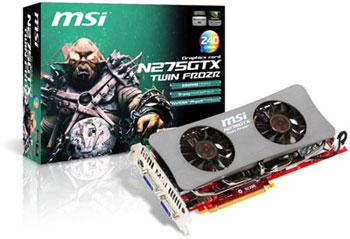 MSI N275GTX Twin Frozr graphics card