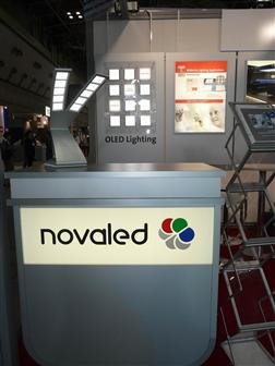 Finetech Japan 2009: Novaled showcases OLED lighting products