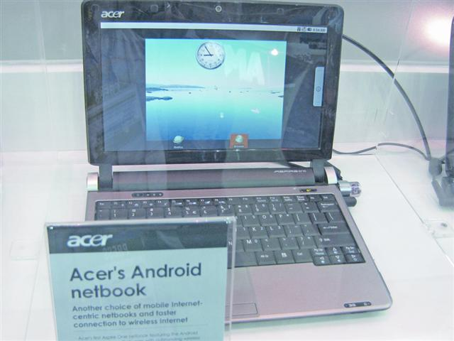 Computex 2009: Acer Android netbook with Windows draws spotlight