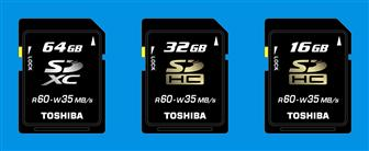 Toshiba to launch 64GB SDXC card