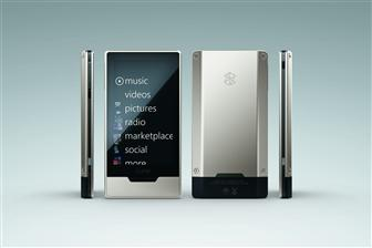 Microsoft Zune HD Platinum portable media player