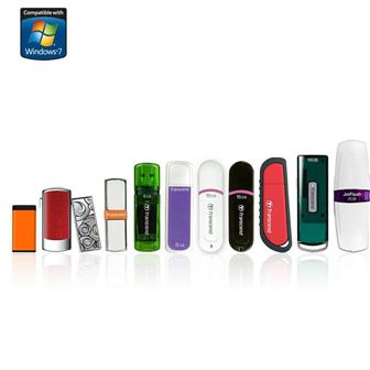 Transcend USB drive lineup certified for Windows 7