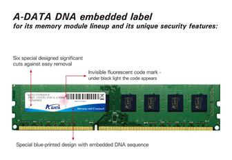 A-Data adopts DNA authentiction technology to protect its IP