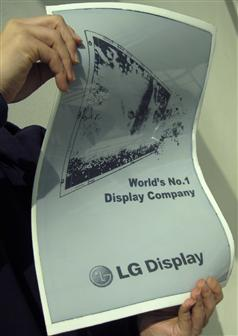 LG Display 19-inch flexible e-paper panel