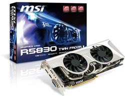 MSI R5830 Twin Frozr II graphics card