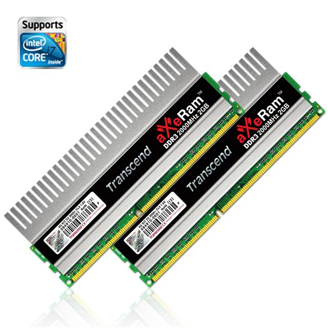Transcend aXeRam DDR3-2000 memory kit gains XMP certification