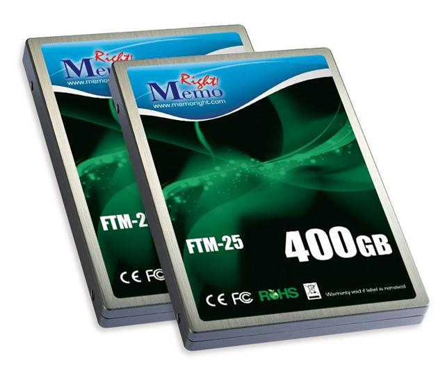 Memoright FTM-25 series SSD with capacities up to 400GB