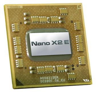 VIA dual-core Nano X2 E-series processors