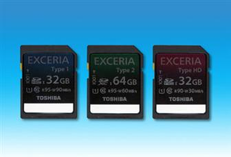 Toshiba Exceria-series SD cards