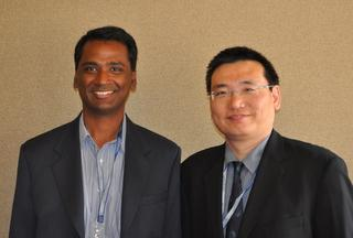 Algotochip CTO Satish Padmanabhan and company VP of operations Mike Hong