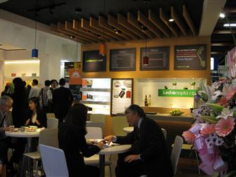 2013 Taiwan International Lighting Show: Edison Opto's cafe booth