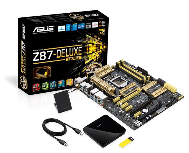 Asustek Z87-Deluxe/Quad motherboard with Thunderbolt 2 support