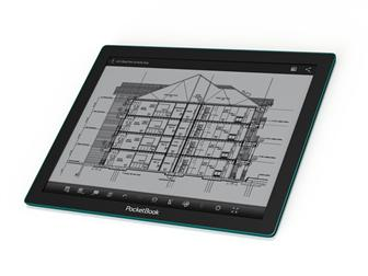PocketBook CAD Reader equipped with E Ink Fina