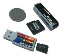 Ultra-compact InnoDisk NAND-flash drives and readers