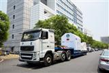 A truck carrying FormoSat-5 leaves NSPO for Taoyuan International Airport