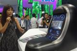 A sample of Gorilla Glass car interior application is showcased at Touch Taiwan 2017