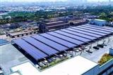 An AUO-built rooftop PV system at Hota Industrial's factory