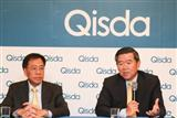 Qisda chairman and president Peter Chen (right)