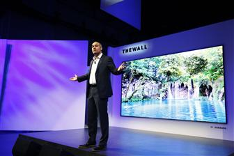 Samsung unveils The Wall, a 146-inch micro LED TV, at CES 2018
