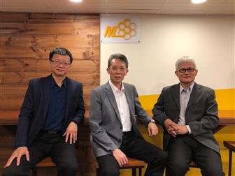 MSS COO Yung-Shun Liao, Chairman Gino Leou, CTO Dr. JC Chen (left to right)
