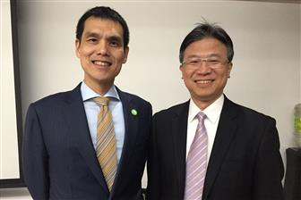 Chairman Maverick Shih (left) and president Wu I-nan of Acer Cyber Security
