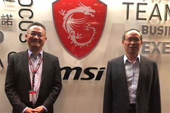 MSI+president+Sheng%2Dchang+Chiang+%28left%29+and+founder+Joseph+Hsu+%28right%29