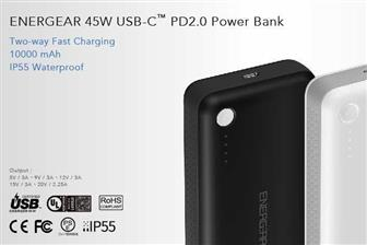 Energear+45W+USB%2DC+PD2%2E0+Power+Bank+with+two%2Dway+fast+charging+feature