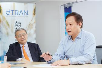 dTran Smart Consulting chairman Huang Chi-yuan (left) and CEO KY Wang (right)