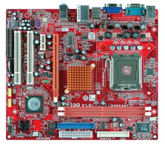 PCCHIPS P33G motherboard