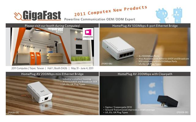 GigaFast New Products for 2011 Computex