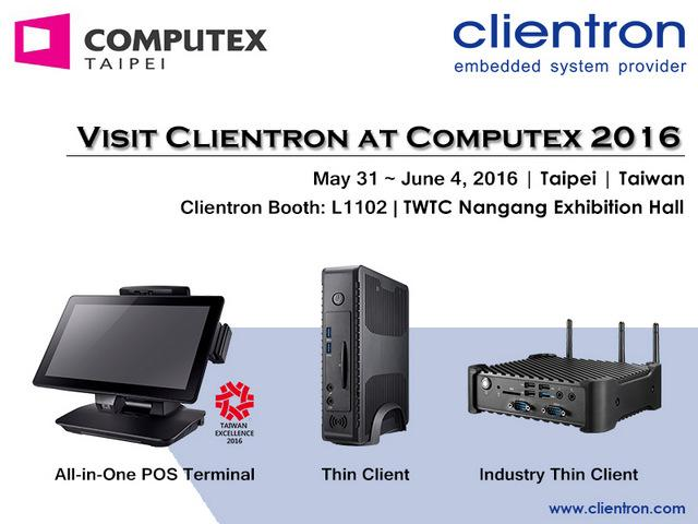 Clientron to showcase latest Thin Client and POS products at