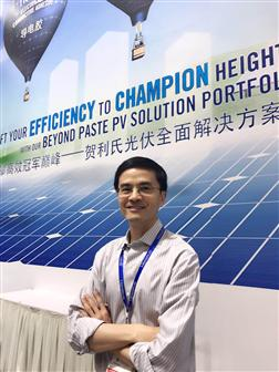 Dr. Weiming Zhang, Executive Vice President and Chief Technology Officer, Heraeus Photovoltaics (Photographed by Digitimes)