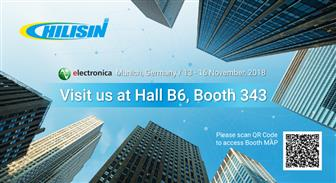 Chilisin Group invites visitors of electronica 2018 to join Chilisin, ASJ and Ferroxcube for the first co-exhibition at Hall B6 Booth no.343